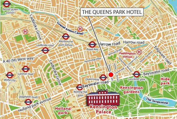 location the queens park hotel london