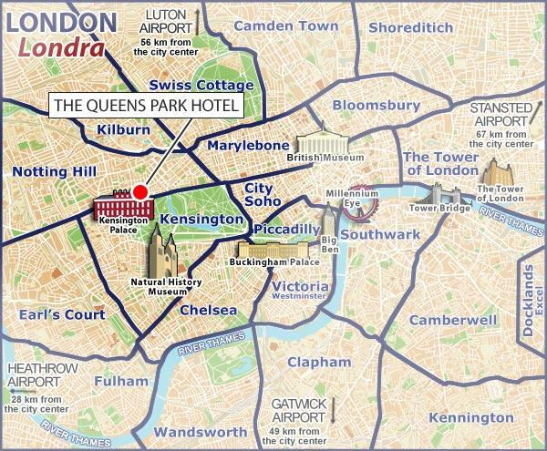Location the queens park hotel london for 48 queensborough terrace bayswater westminster london w2 3sj